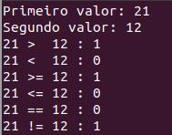 Operadores de comparação em C++