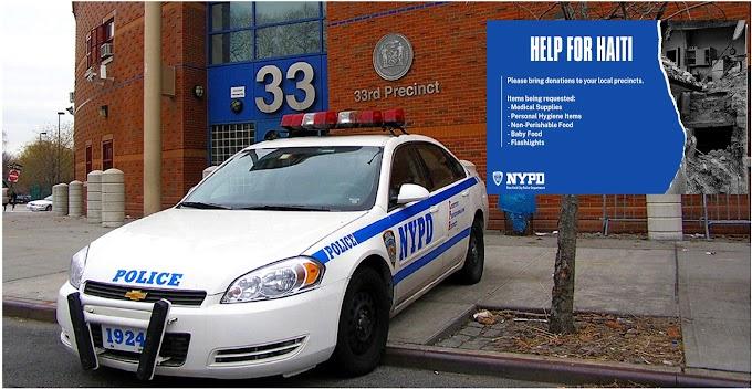 Todos los cuarteles del NYPD colectan ayudas para damnificados del terremoto en Haití