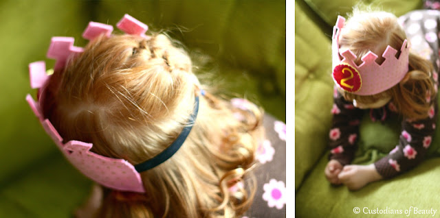 DIY Felted Birthday Crown | by CustodiansofBeauty.blogspot.com