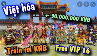 Tải game Hiệp Khách Giang Hồ Việt hóa Free VIP16 + 30.000.000KNB & Train KNB
