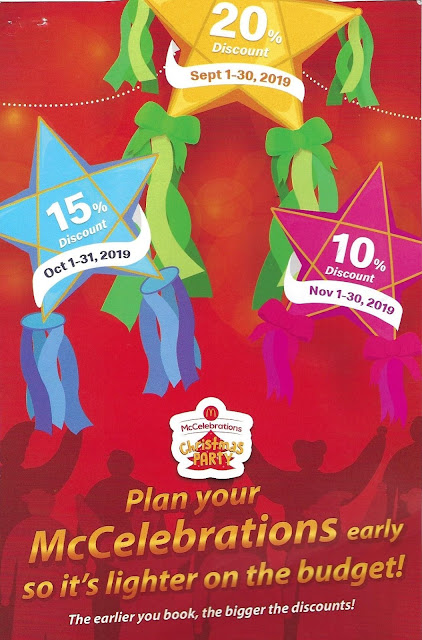 Brochure of McDo Birthday Party Discounted Package 2019