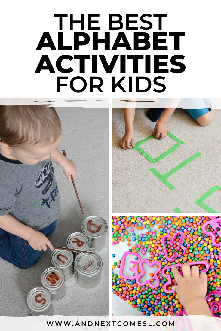 Alphabet and literacy activities for toddlers and preschoolers