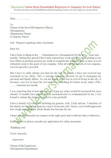 Letter from Dissatisfied Employee to Company for Low Salary