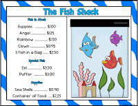 The Fish Tank Menu for Math