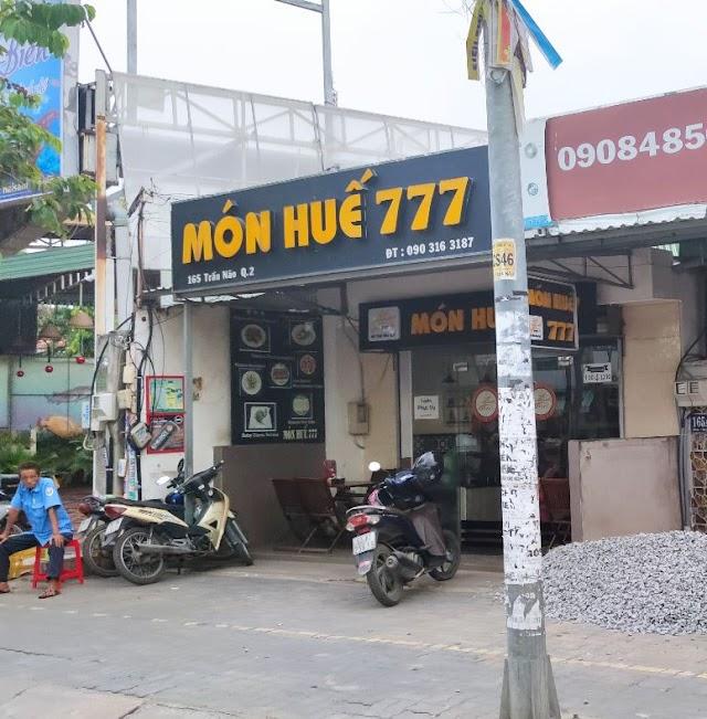 Địa chỉ quán Món Huế 777: 165 Trần Não, Bình An, Quận 2