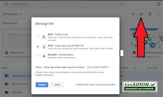 pengaturan kemanan file link google drive