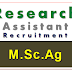 Research Assistant Recruitment in PAU