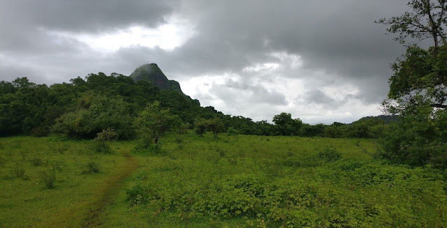 Manikgad fort trek route, Katkarwadi route