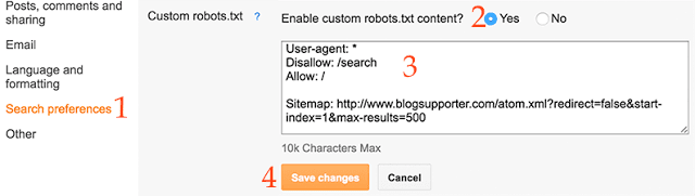 Custom Robots.txt File For Blogger