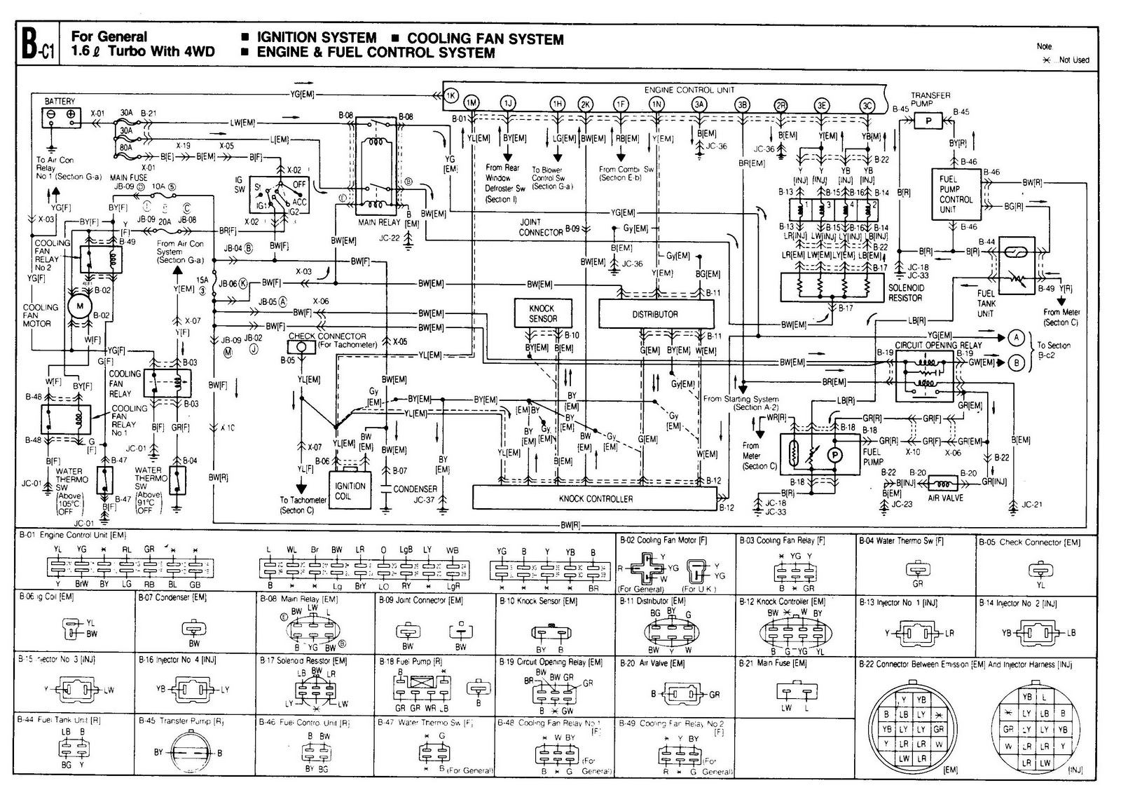 56 combination circuit diagrams 5 components