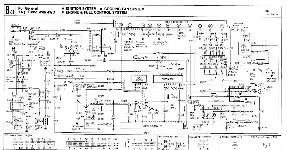 1986 mazda b2000 wiring diagram somurich com 2001 mazda 626 wiring diagram download #12
