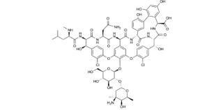 Vancomycin merupakan antimikroba golongan glikopeptida atau gabungan glikopeptida yang dip Vancomycin