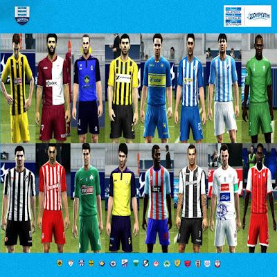 PES 2013 Superleague Greece Kitpack Season 2018/2019 by Auvergne81