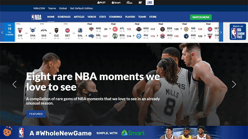 Smart partners with NBA, powers new NBA Philippines website