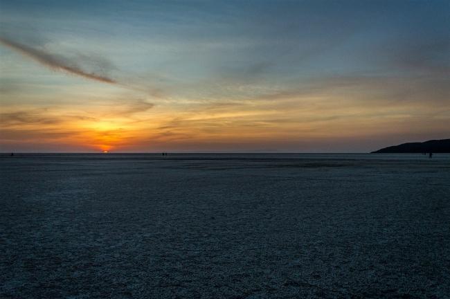 Sunset at Rann of Kutch near Fossil park Dholavira