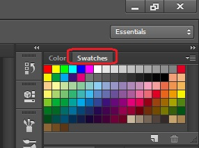 Menggunakan Swatches photoshop CS6