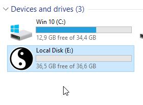 mengubah icon drive di explorer windows