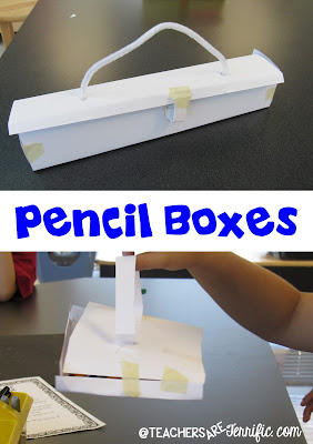 STEM Challenge: Build a pencil box that follows several constraints and then test it! Take a look at this blog post for more!