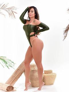 Denise Dias muda a dieta para ganhar pernão