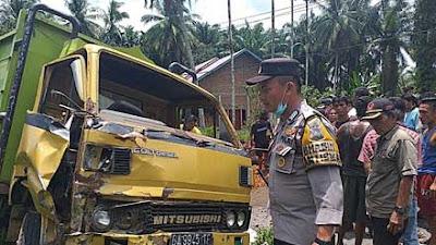 Kecelakaan di Durian Kapeh, Pengendara Motor Tewas di Tempat