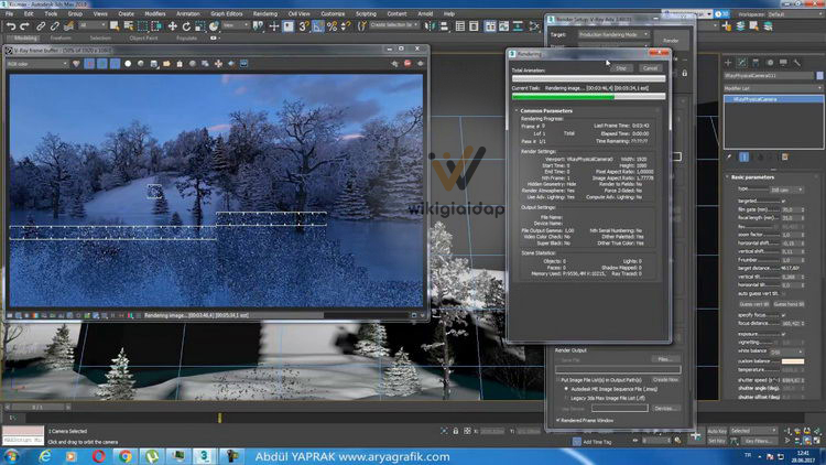 VRay cho 3ds Max 2022 giao diện