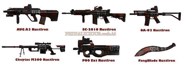 Harga & Statistik Seri RustIron Senjata Point Blank