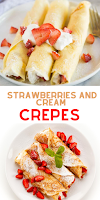 make ahead breakfast for a crowd : strawberries and cream crepes
