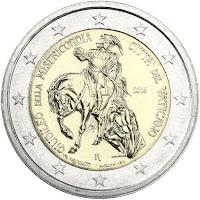 vatikaani 2 euroa kolikko armon juhlavuosi 2016