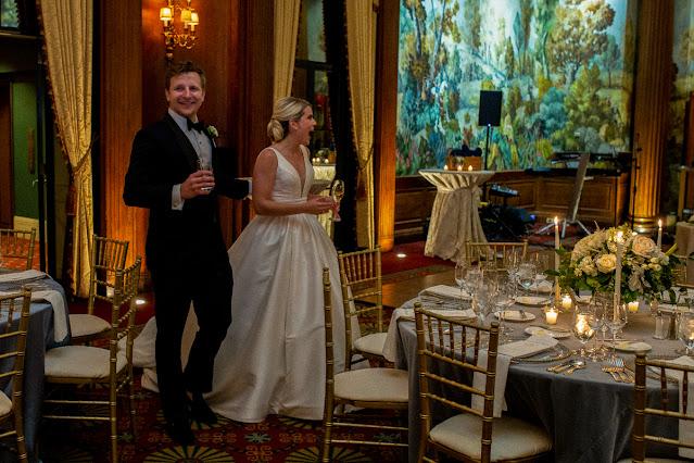 Mosaic Wedding Linens at The Duquesne Club Pittsburgh