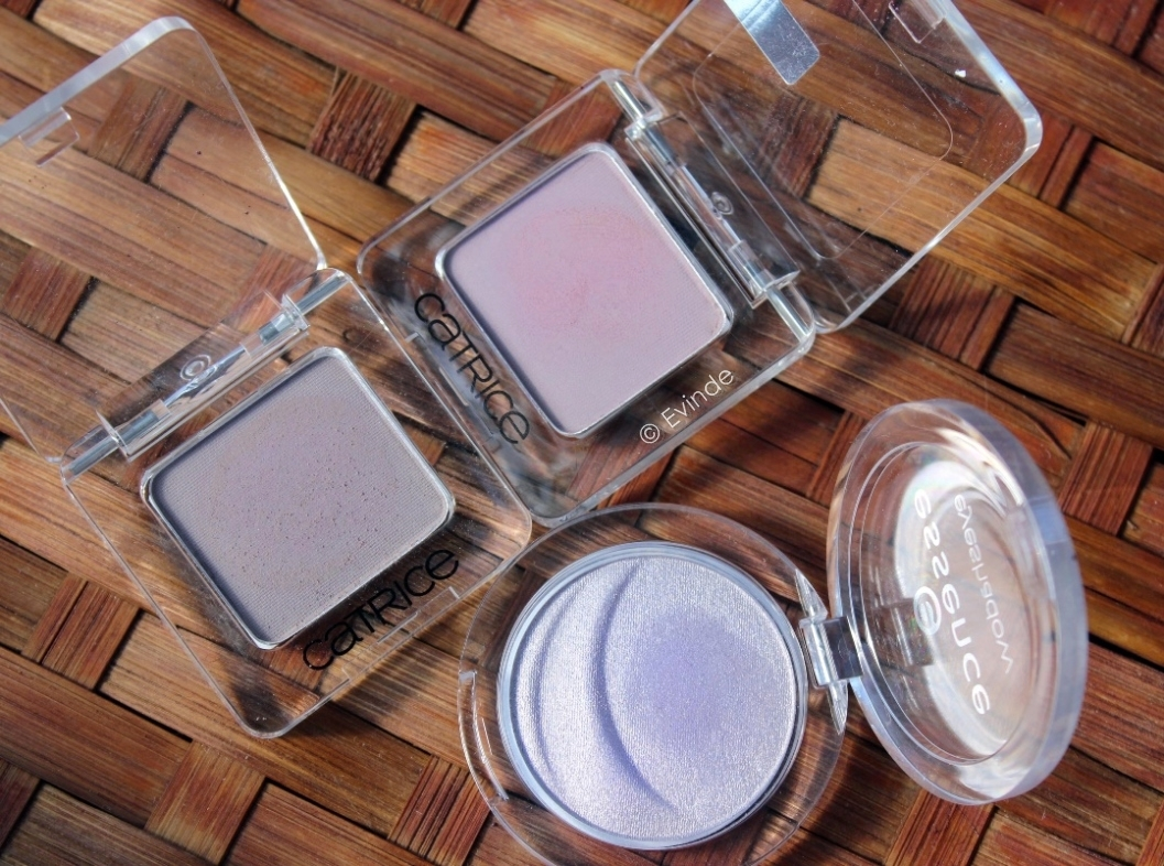 essence and catrice mono eyeshadows