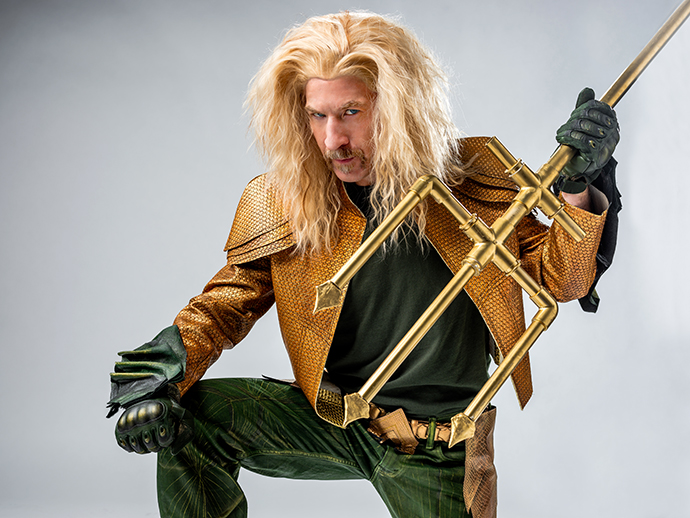 Close Up on Suit Up! Aquaman (or, How I Got Rob in Pleather.) | oonaballoona by marcy harriell