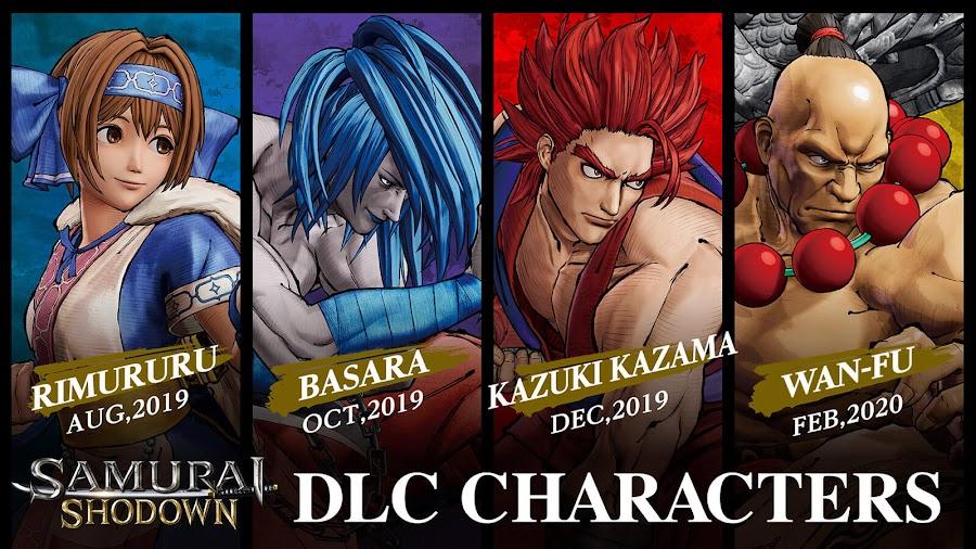 samurai shodown 2019 season 1 dlc characters pack ps4 xb1