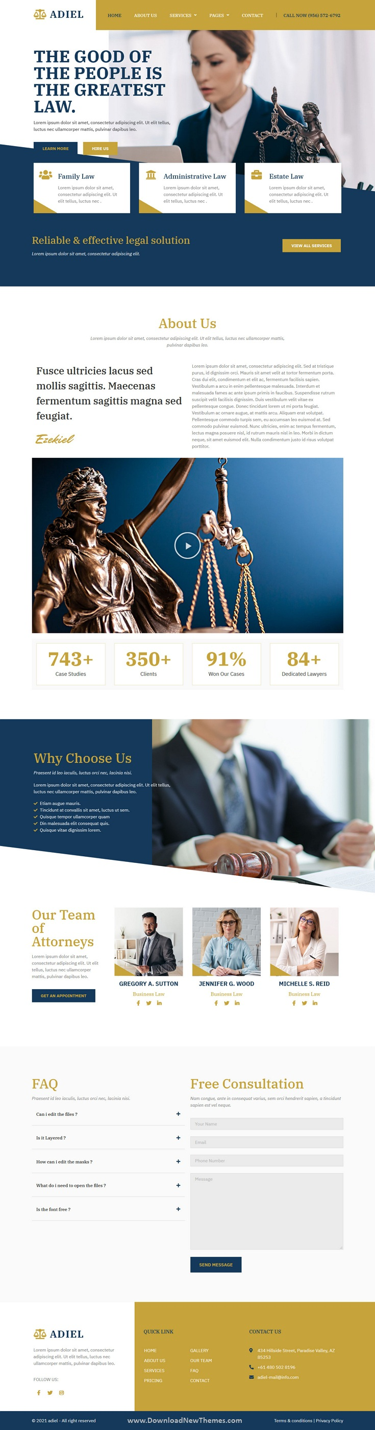 Attorney and Law Firm Elementor Template Kit