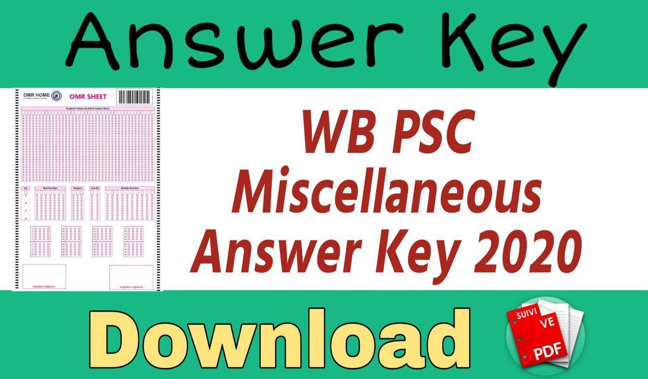 Miscellaneous Answer Key 2020