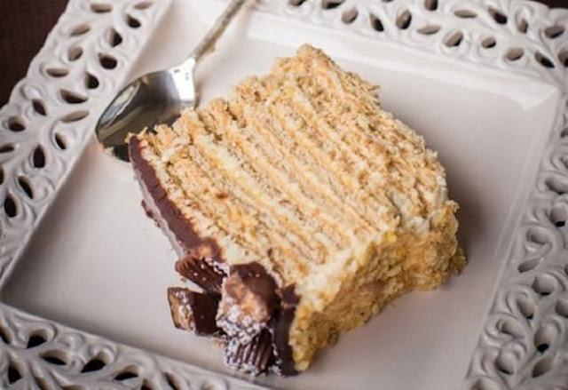 kek lapis craker berkrim fashion beauty lifestyle  food blogger Resepi Kek Milo Cheese Enak dan Mudah
