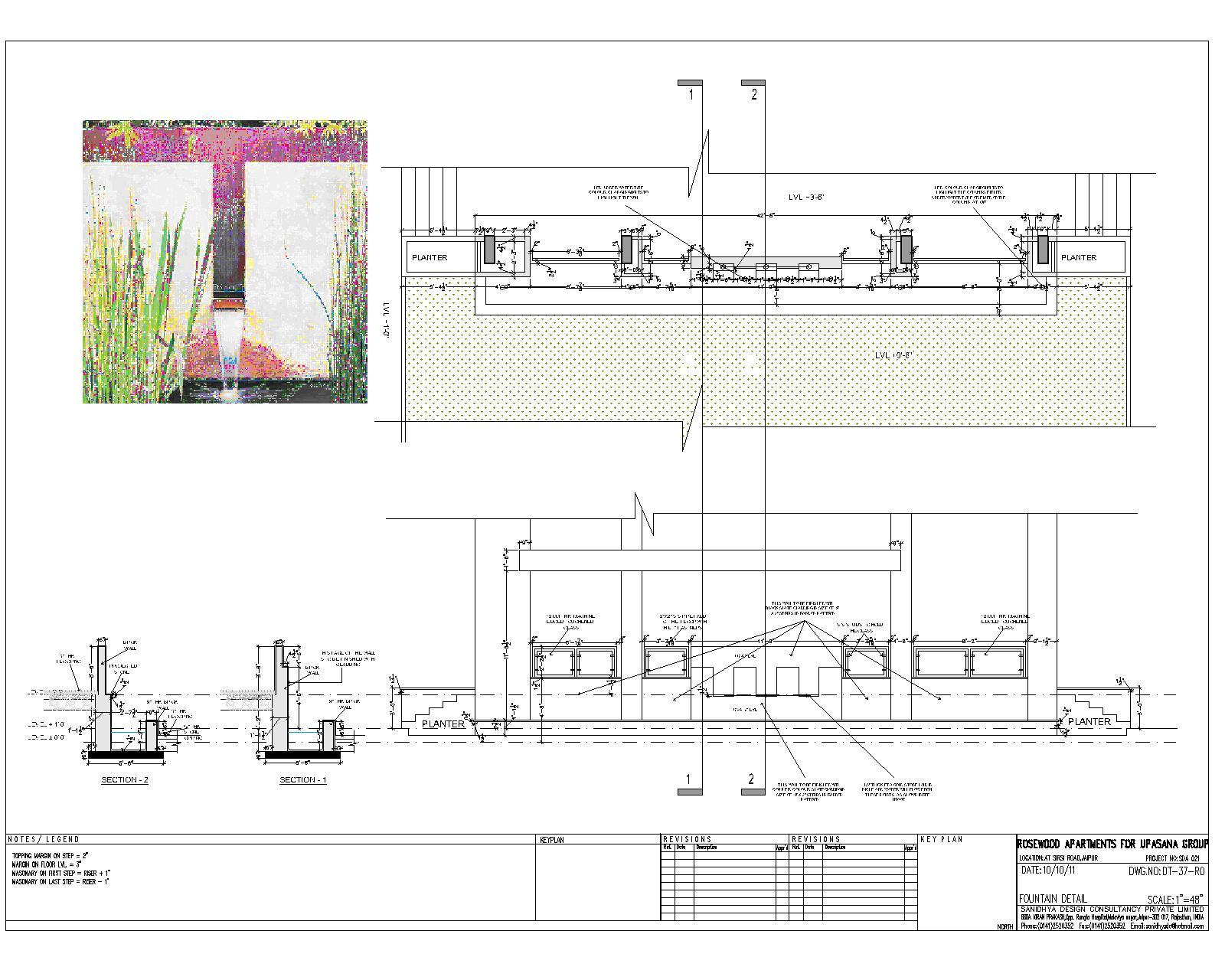 Sanidhya design landscape details for Pool design details