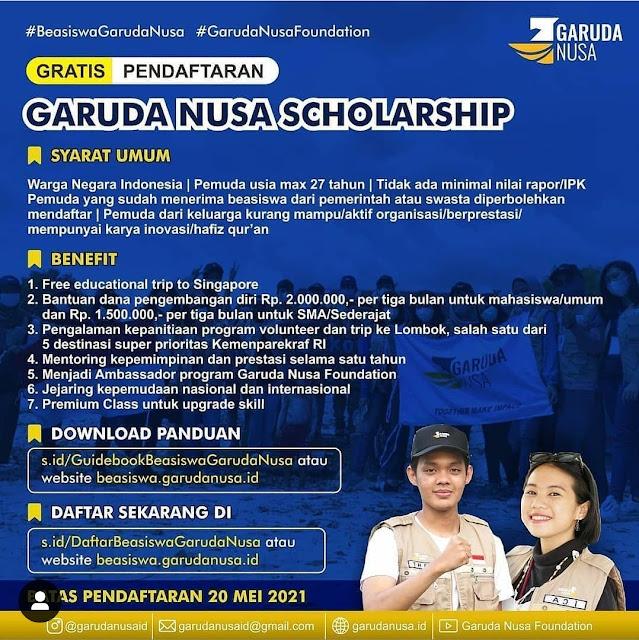 Garuda Nusa Scholarship Deadline 15 Mei Jangan Sampai Ketinggalan