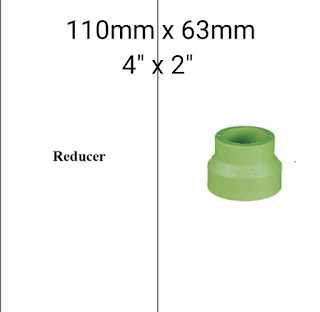 Jual reducer pipa ppr lesso 110mm × 63mm
