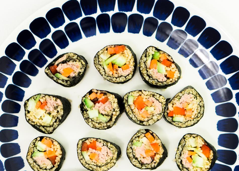 idruoka itse tehty sushi resepti maki kvinoa kvinoasushi