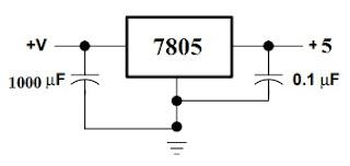 7805 वोल्टेज रेगुलेटर