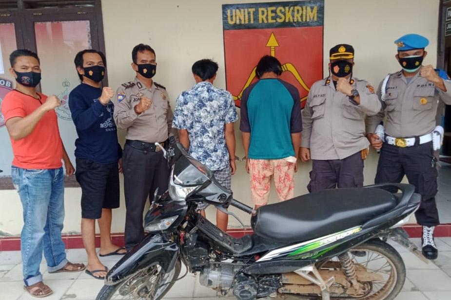 Maling Sepeda Motor Dikebun, Dua Warga Gula Ditangkap Polisi Baradatu