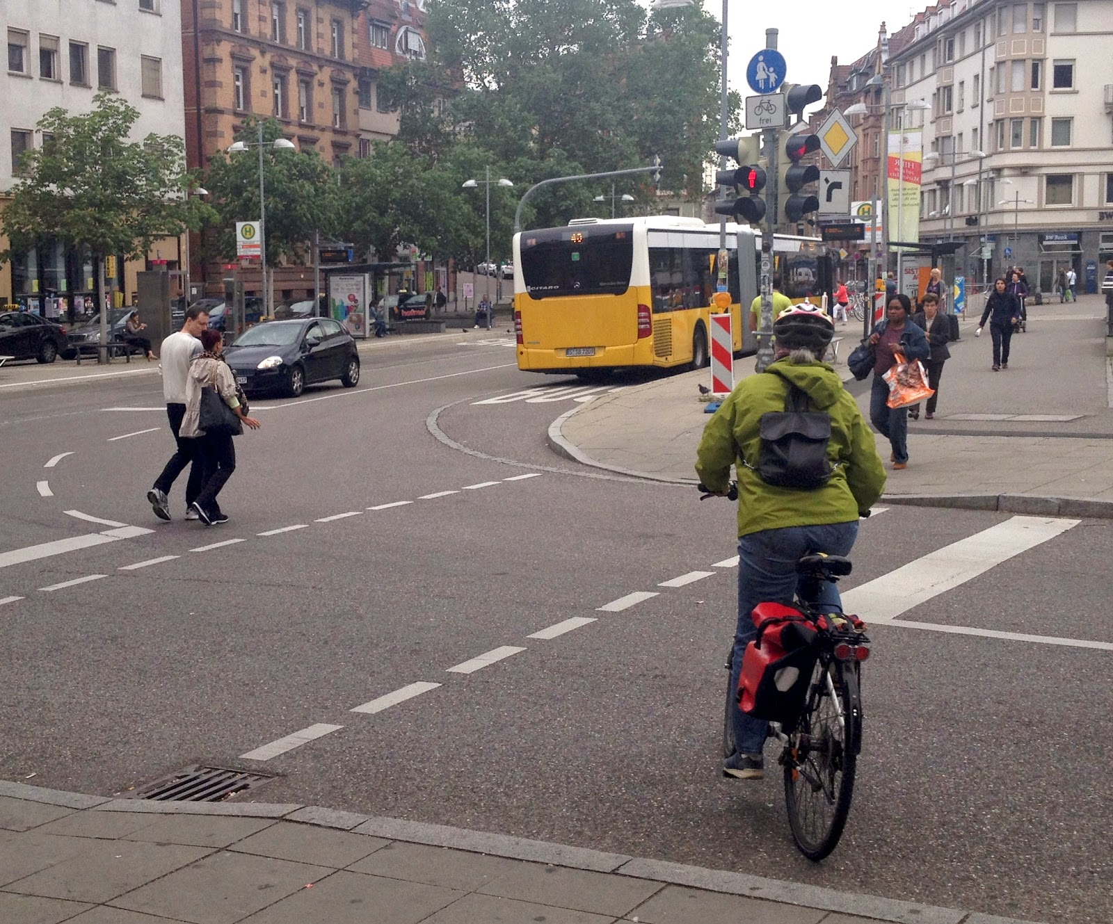 Fußgängerüberweg Radfahrer