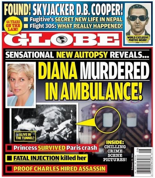 Δείτε τη φωτογραφία με την είδηση για τη δολοφονία της Diana: