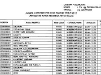 """Jadwal Ujian Per Sesi - CPNS 2019 """"Instansi Kota Padang"""" - Kampus UPI YPTK Padang"""