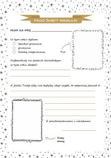 wzór listu do mikołaja