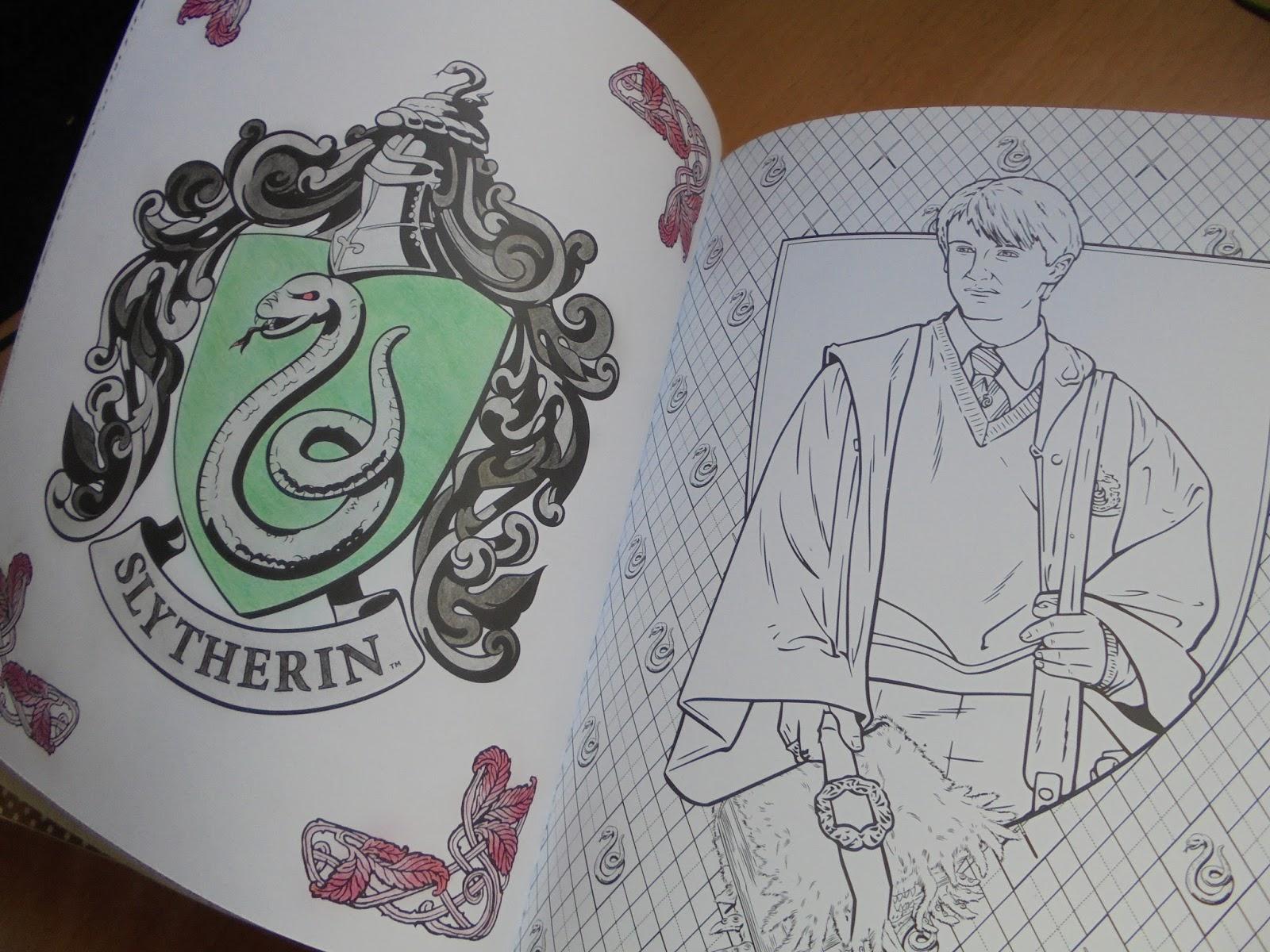 Dibujos Para Colorear Harry Potter: Pretty Little Human: Foto-Reseña: Harry Potter Colouring Book