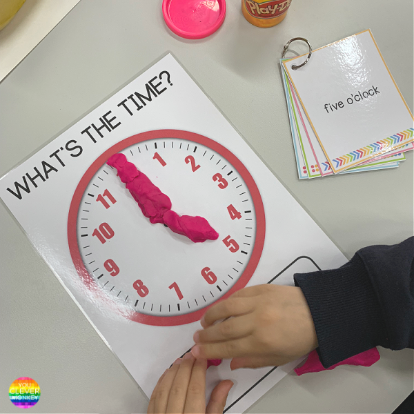Telling Time Playdough Pack | you clever monkey
