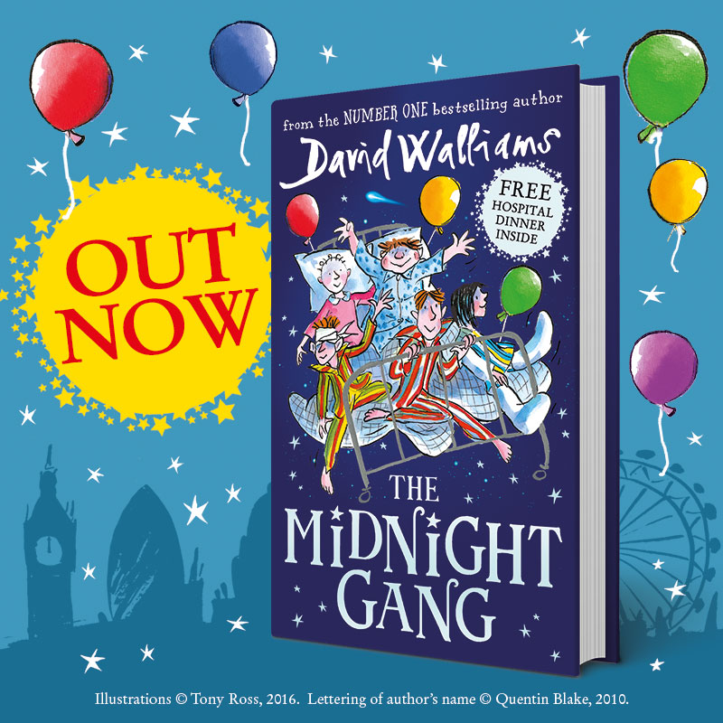 Promotional shot:  Out Now - David Walliams' The Midnight Gang