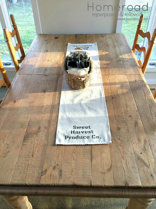 An easy DIY using pre-made runners and a fabulous farmhouse stencil.