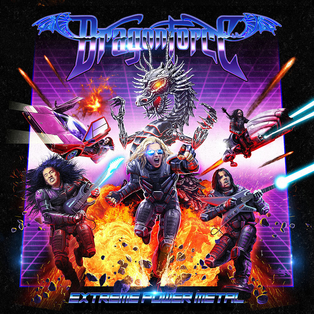 DragonForce Extreme power metal album cover